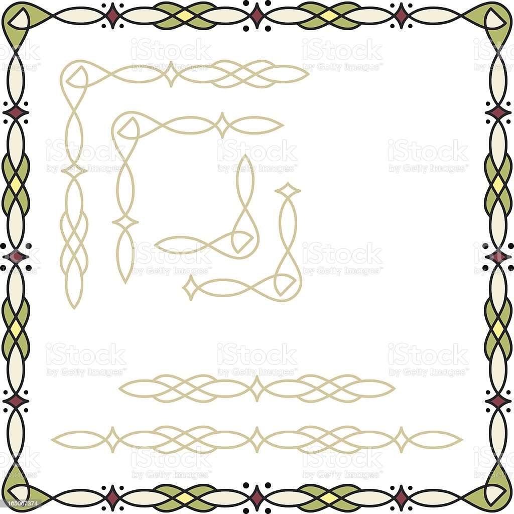 Create-A-Frame Border royalty-free stock vector art