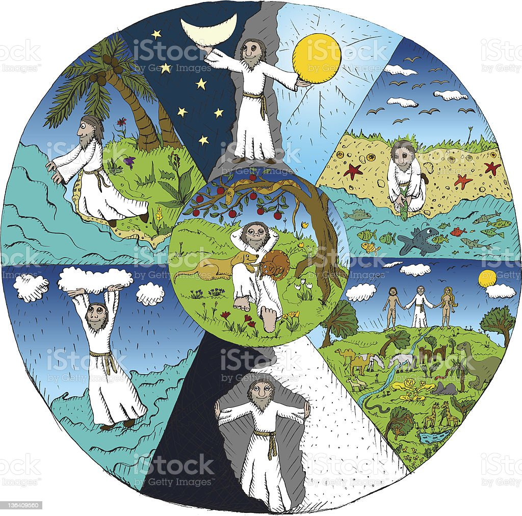 Creation of the World royalty-free stock vector art