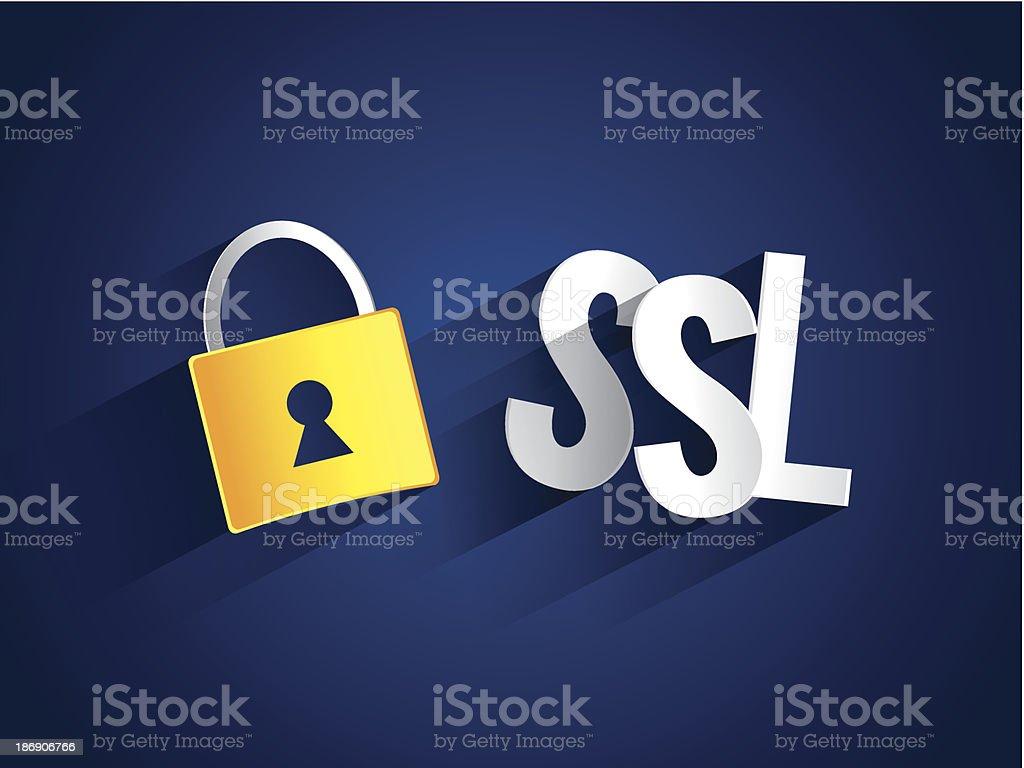 Creative abstract SSL royalty-free stock vector art