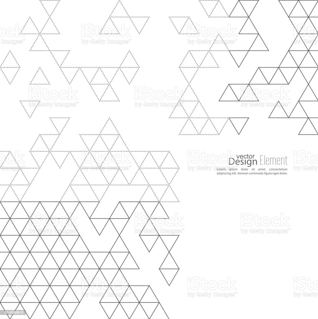 Creative abstract triangle pattern. Polygonal  background. Hipst vector art illustration