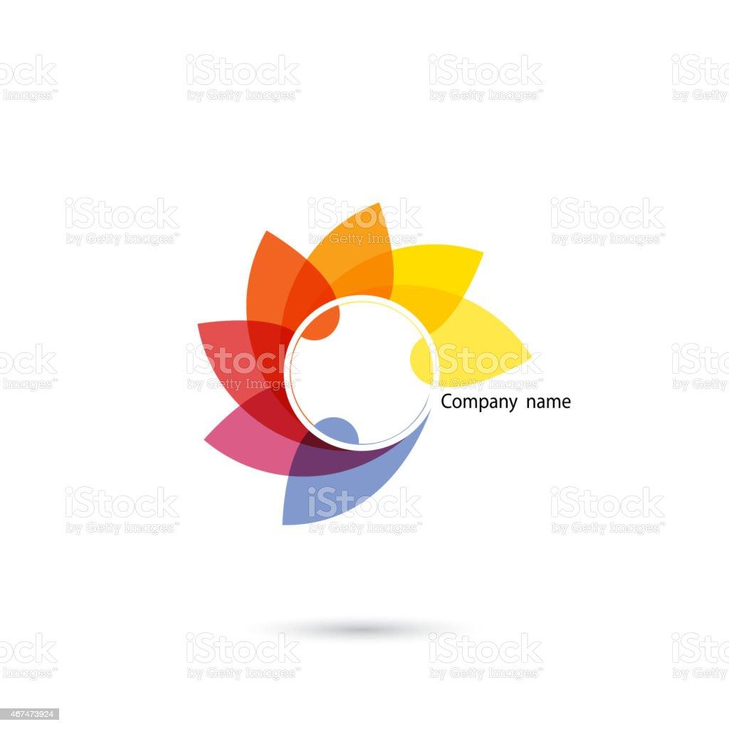 Creative abstract vector logo design template.Corporate business creative logotype symbol. vector art illustration