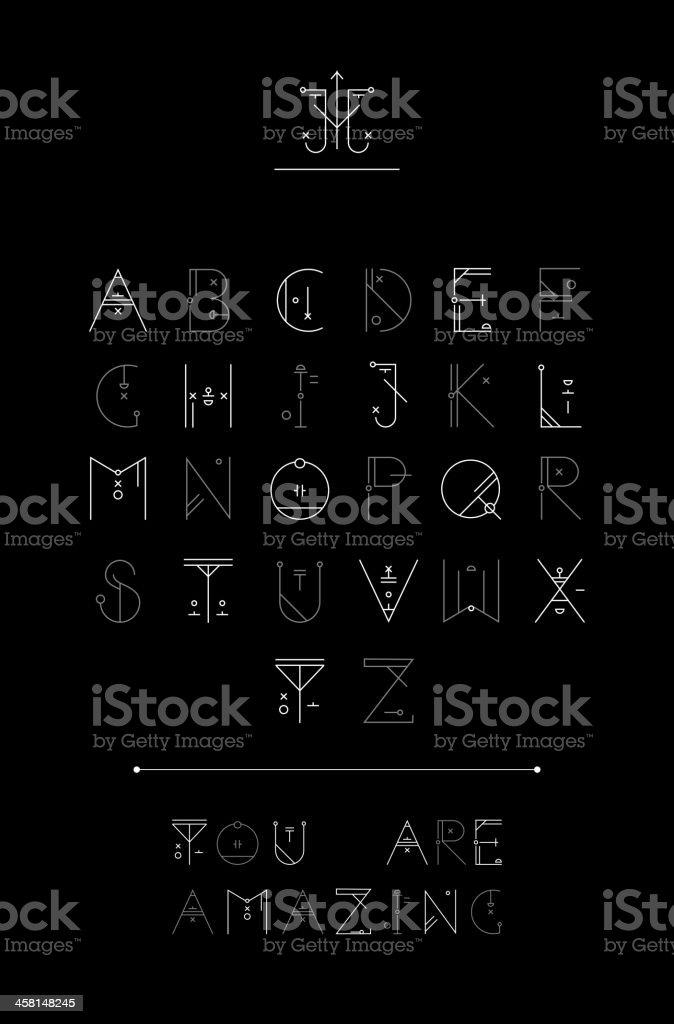 Creative alphabet. Vector. royalty-free stock vector art