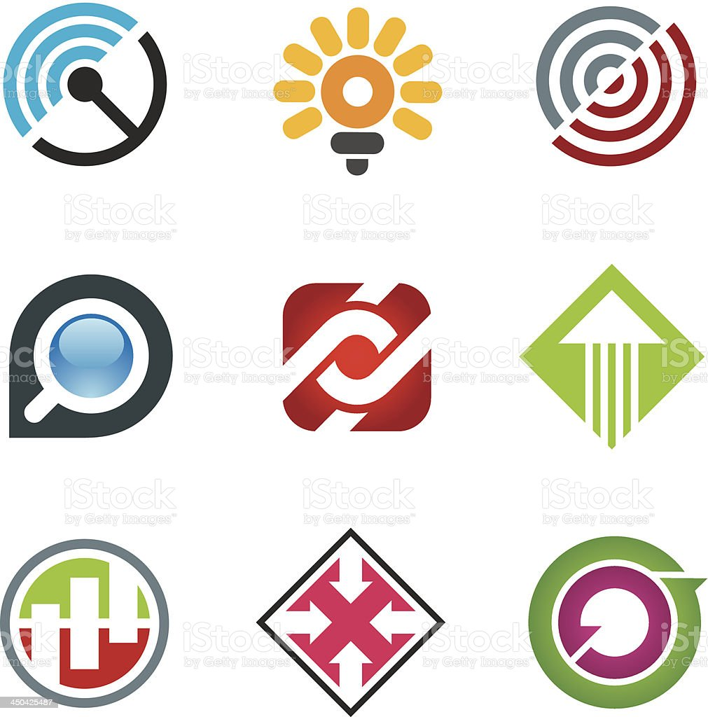 Creative and free spirited innovation icons for social media vector art illustration