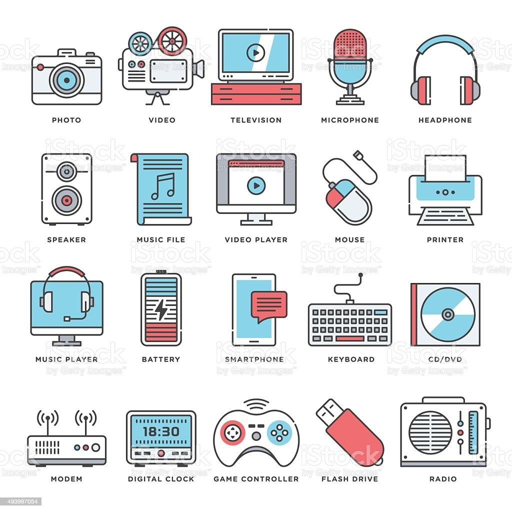 Creative and User Generated Content Icons vector art illustration
