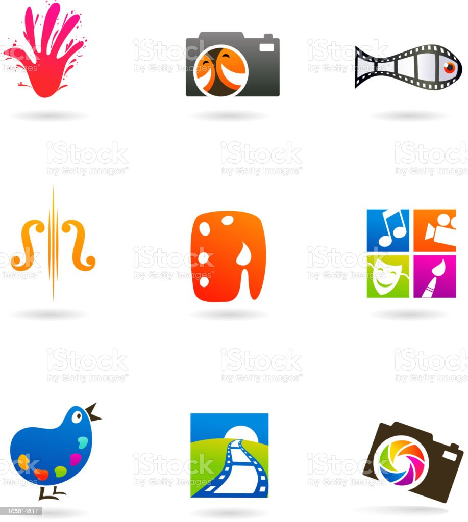 Creative arts icons royalty-free stock vector art