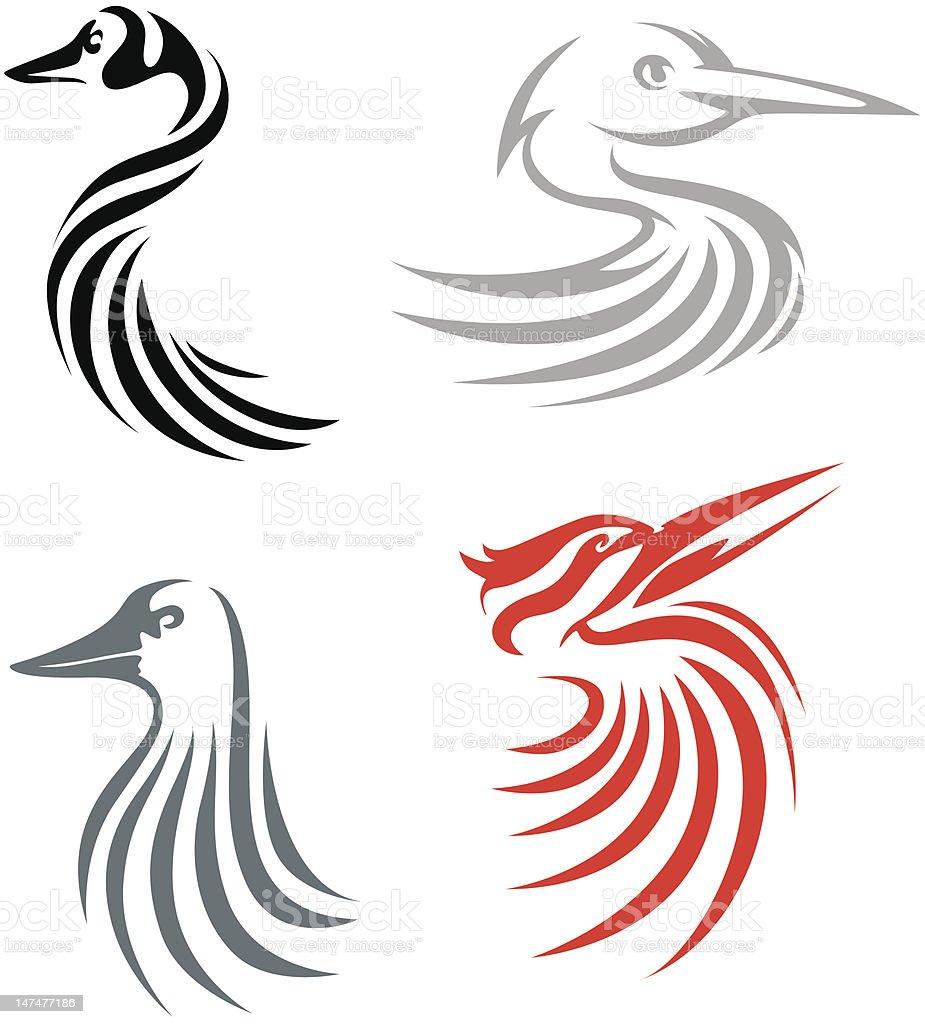 Creative Bird Illustrations stock photo