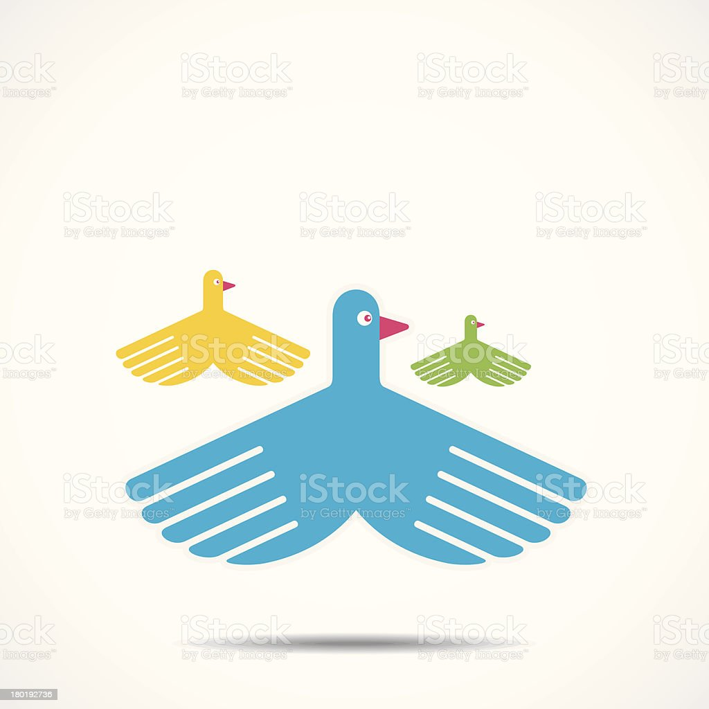creative bird royalty-free stock vector art