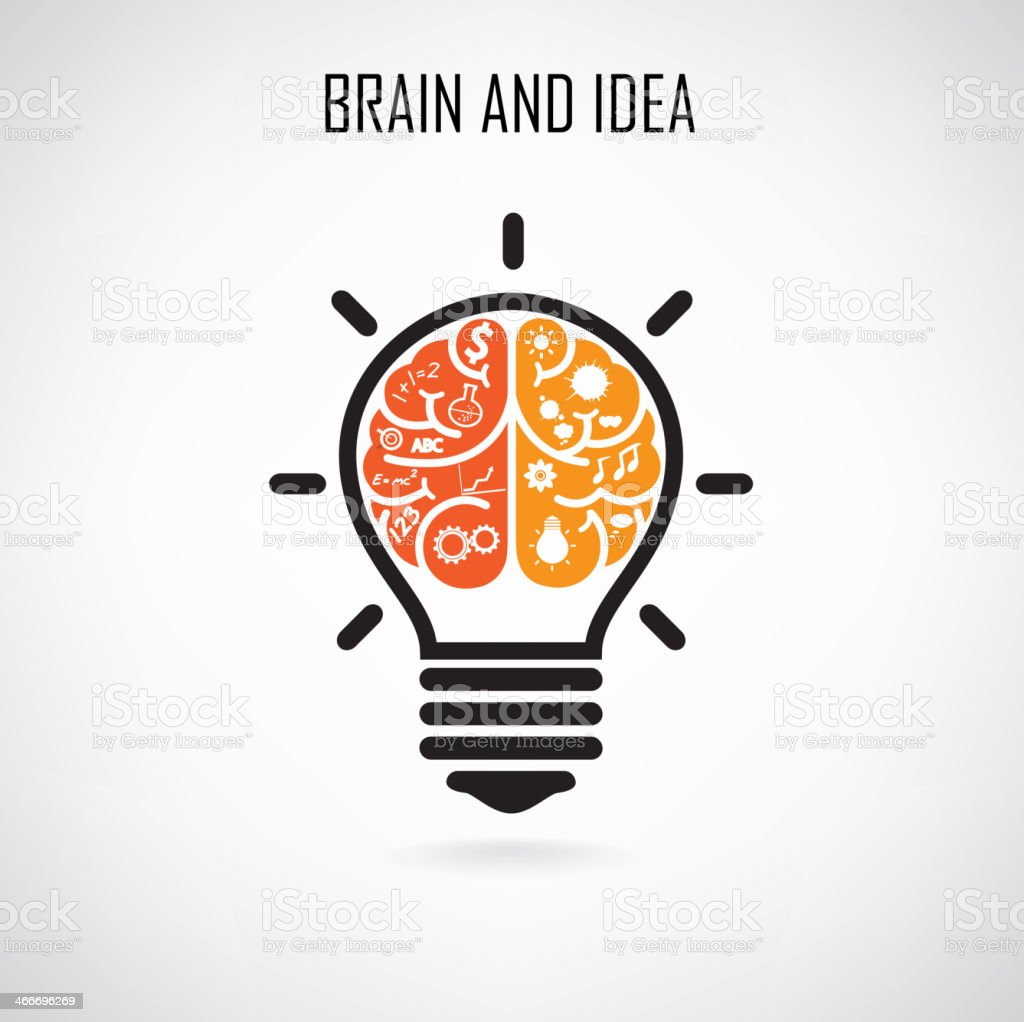 Creative brain Idea vector art illustration