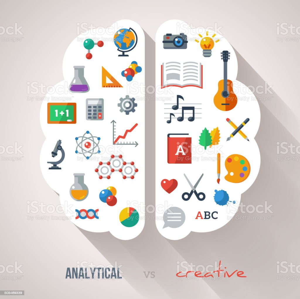 Creative Brain Idea. vector art illustration