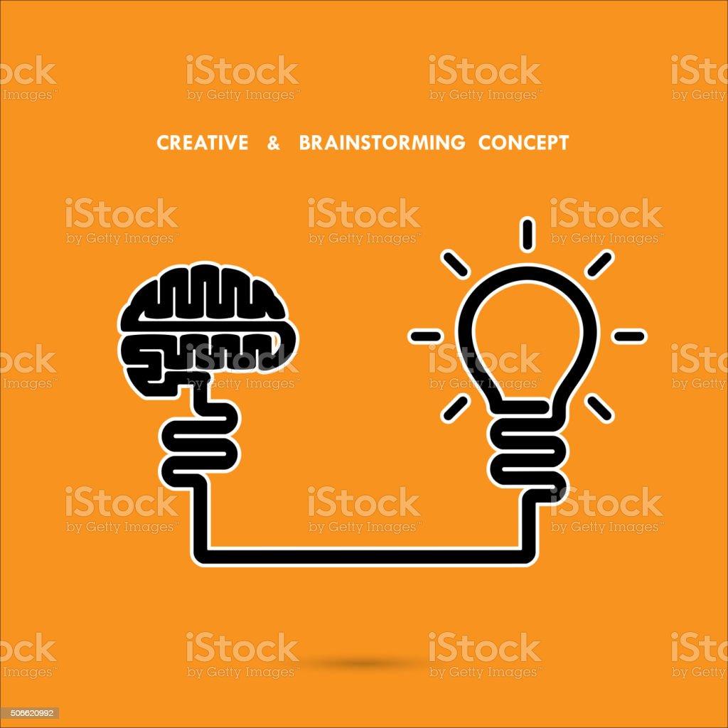 Creative brainstorm concept ,business and education idea vector art illustration
