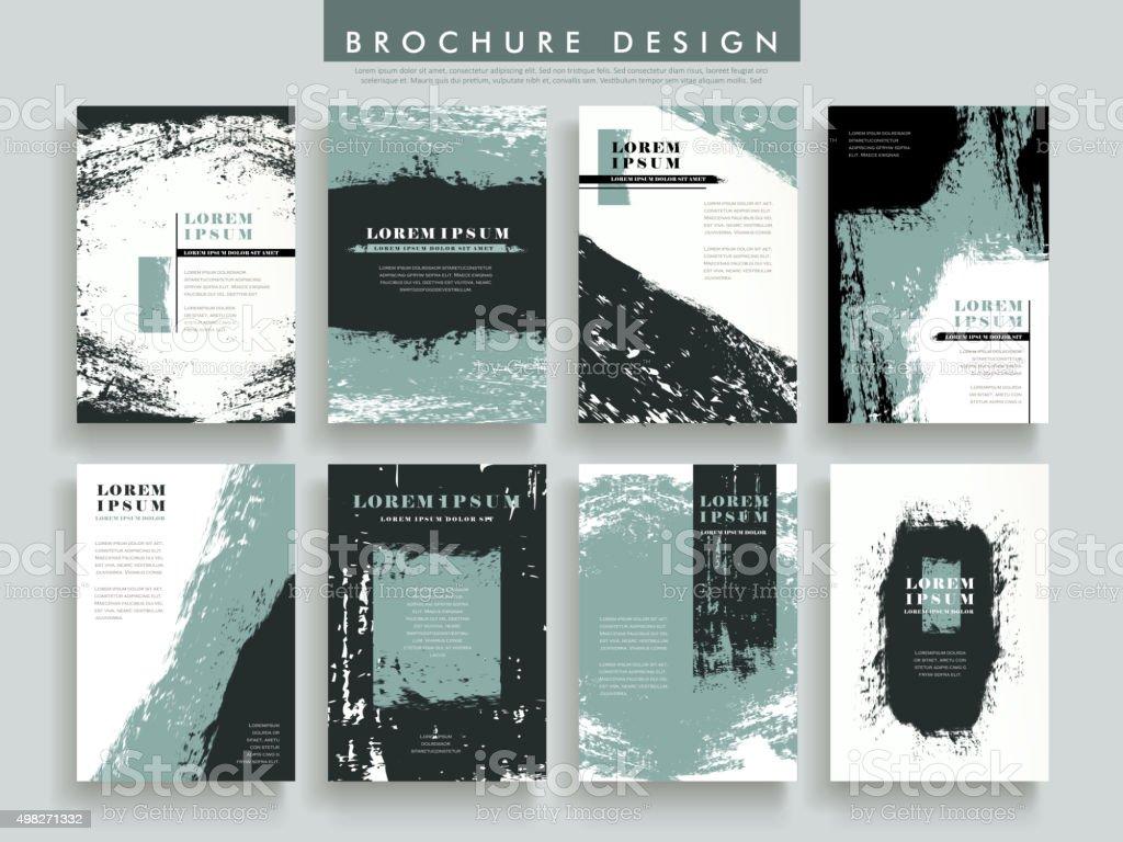 creative brochure template vector art illustration
