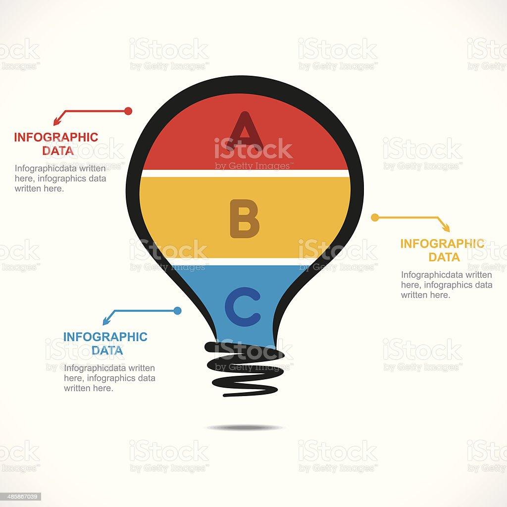 creative bulb info-graphics royalty-free stock vector art