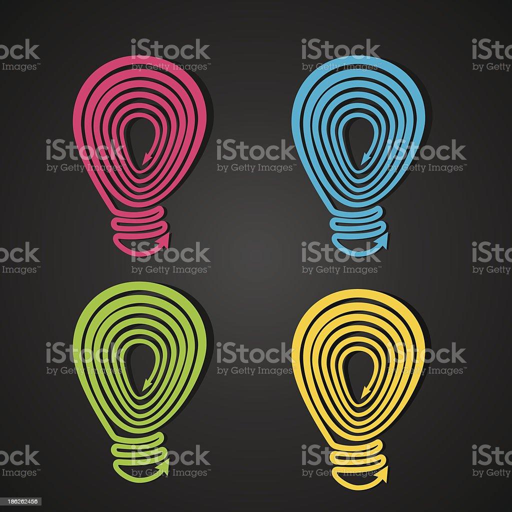 creative bulb royalty-free stock vector art