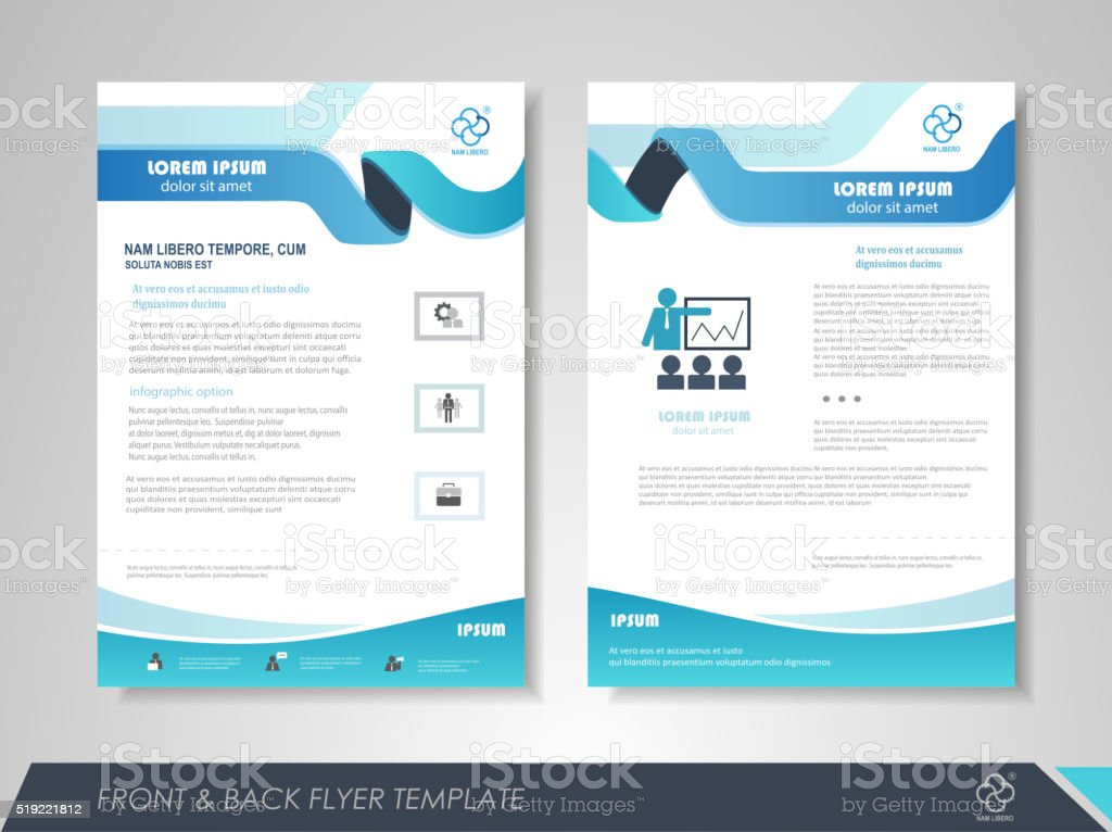 Creative business brochure vector art illustration