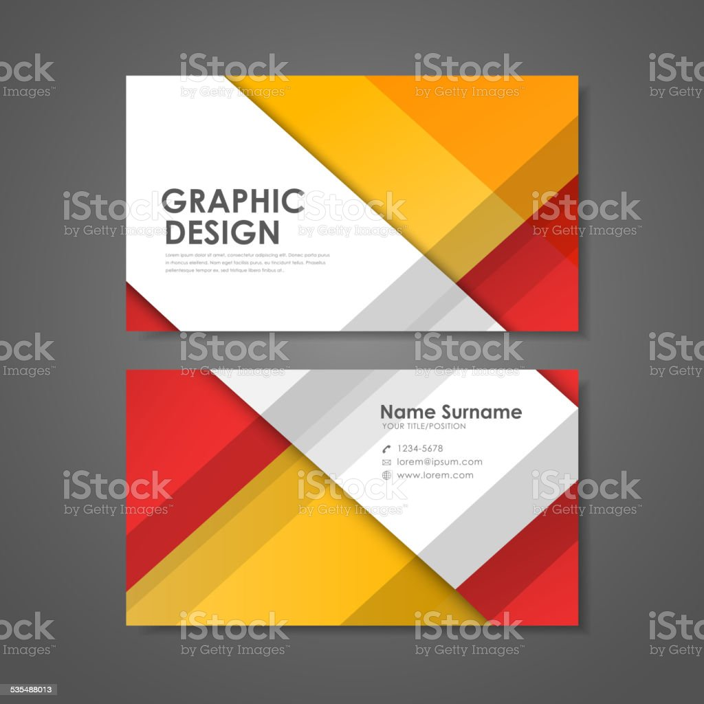 creative business card template vector art illustration