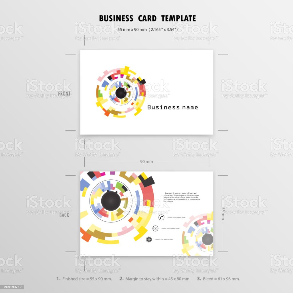 Creative Business Cards Design Template vector art illustration