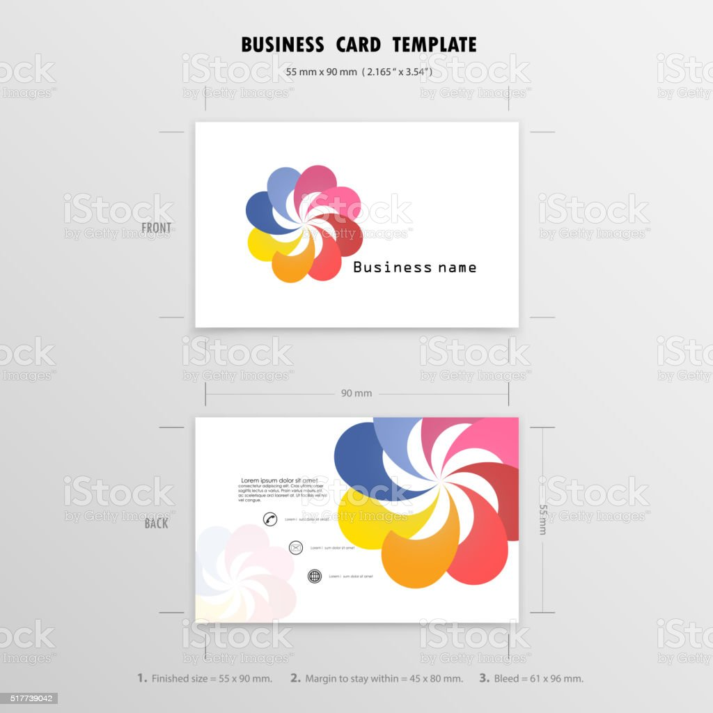 Creative Business Cards Design Template. vector art illustration