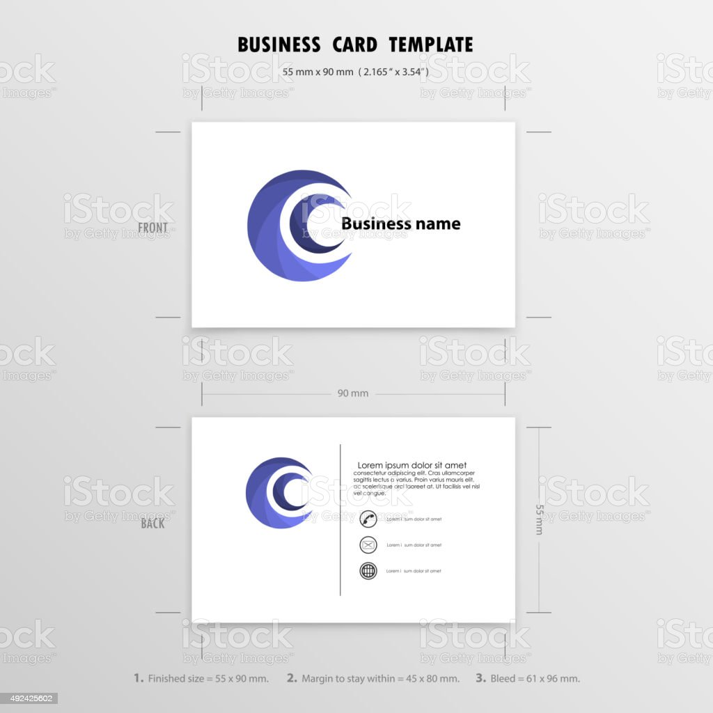Creative Business Cards Design Template.Size 55 mm. x 90 mm. vector art illustration