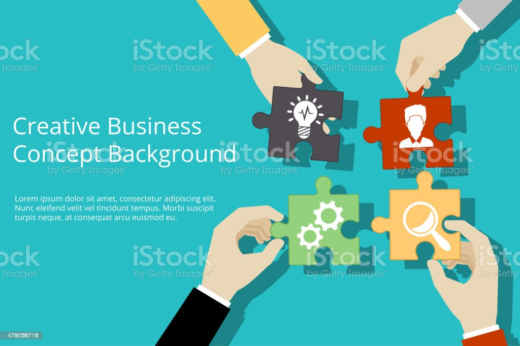 Creative business concept background vector art illustration