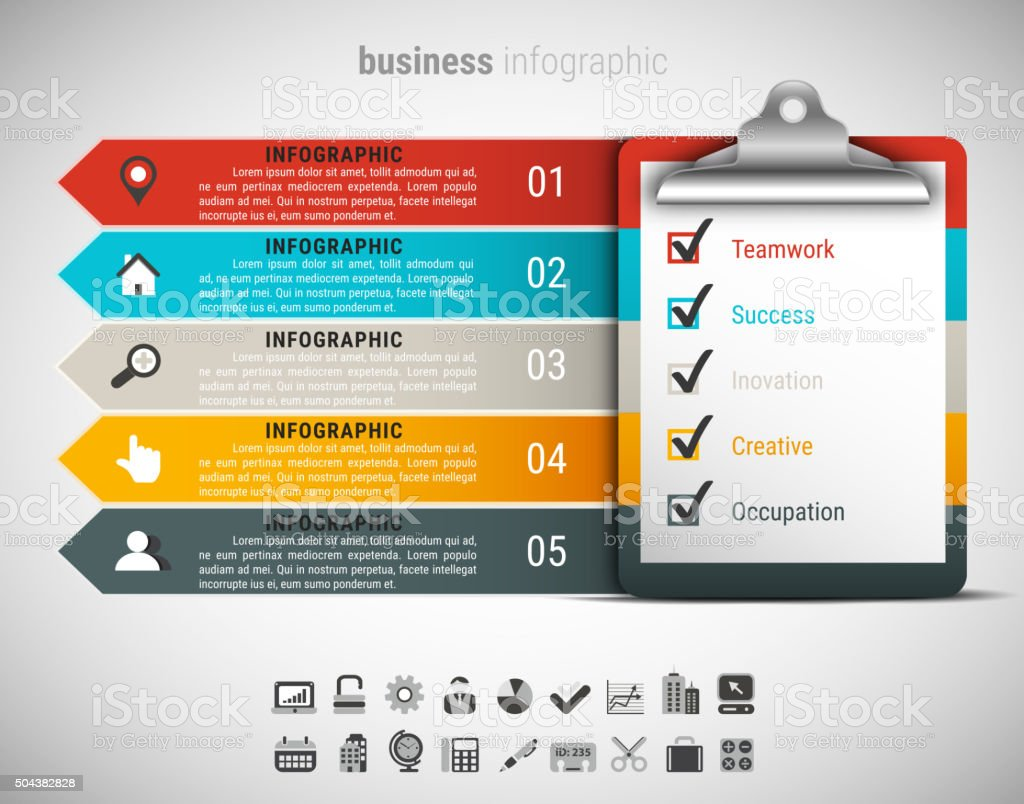 Creative Business Infographic vector art illustration