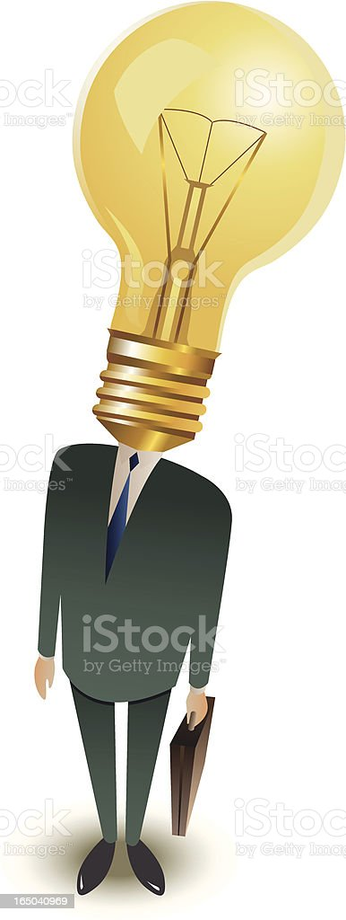 Creative business man royalty-free stock vector art