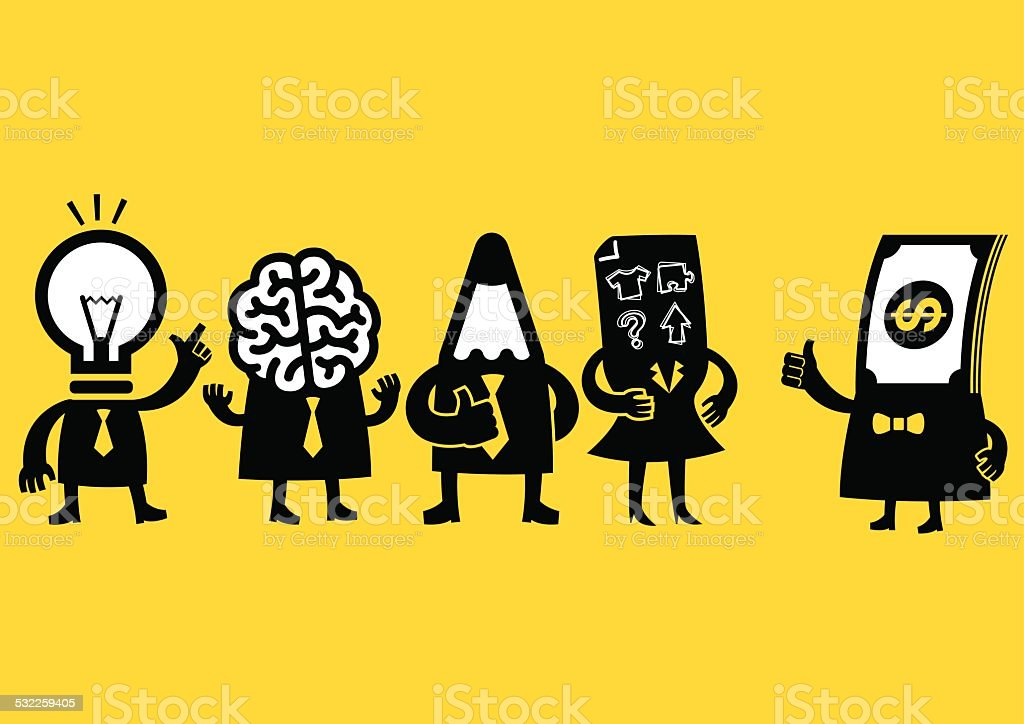 Creative Business Team & Investor | Yellow Business vector art illustration