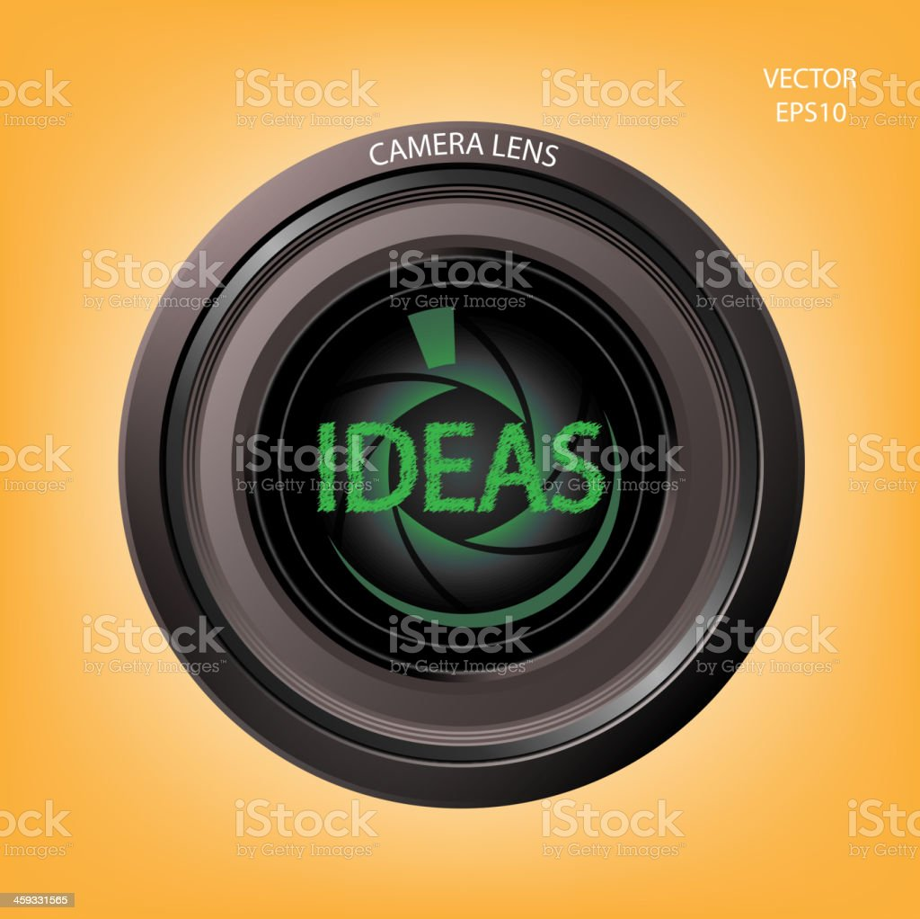 Creative camera lens sign royalty-free stock vector art