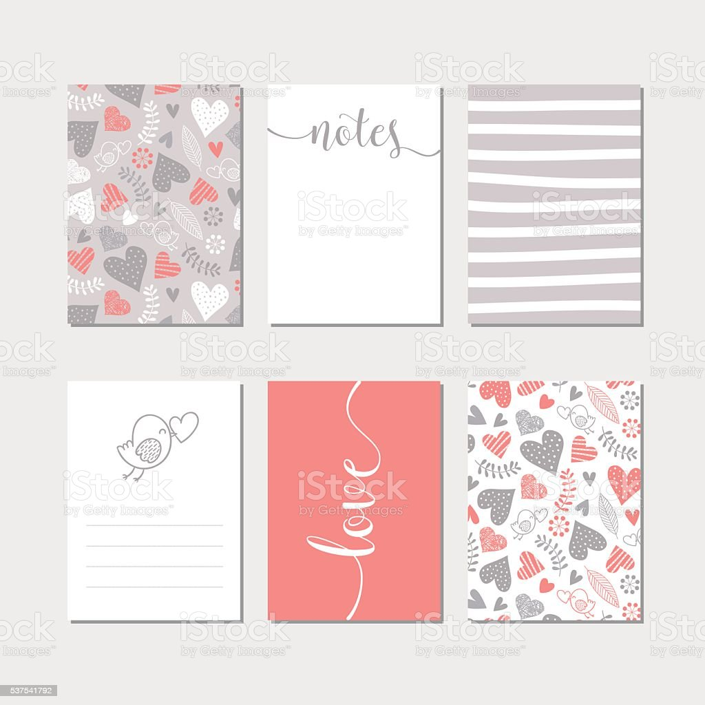 Creative cards collection vector art illustration
