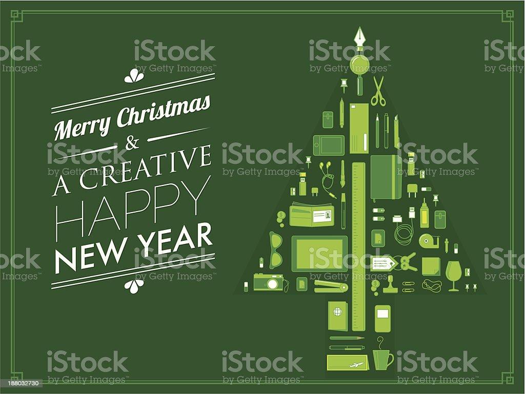 Creative Christmas card royalty-free stock vector art
