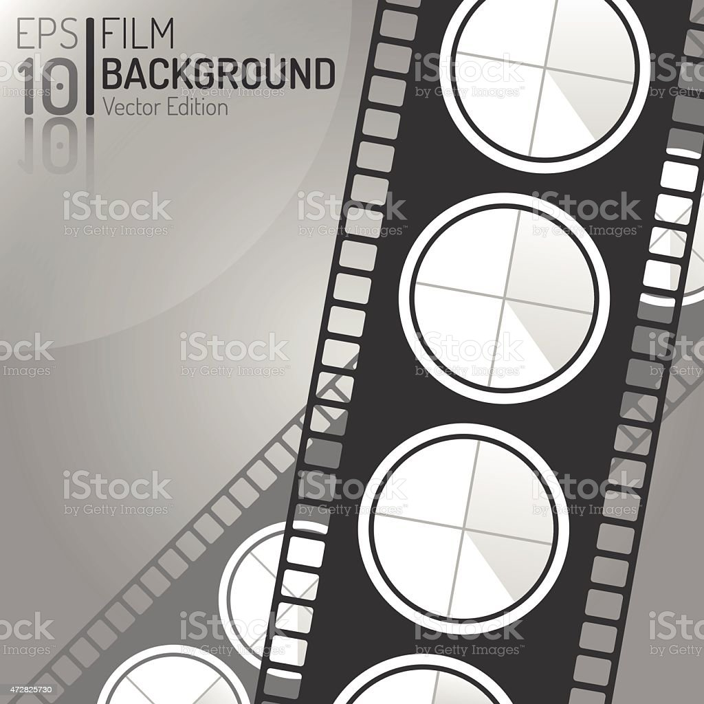 Creative Cinema Background Design. Vector Elements. Minimal Isolated Film Illustration vector art illustration