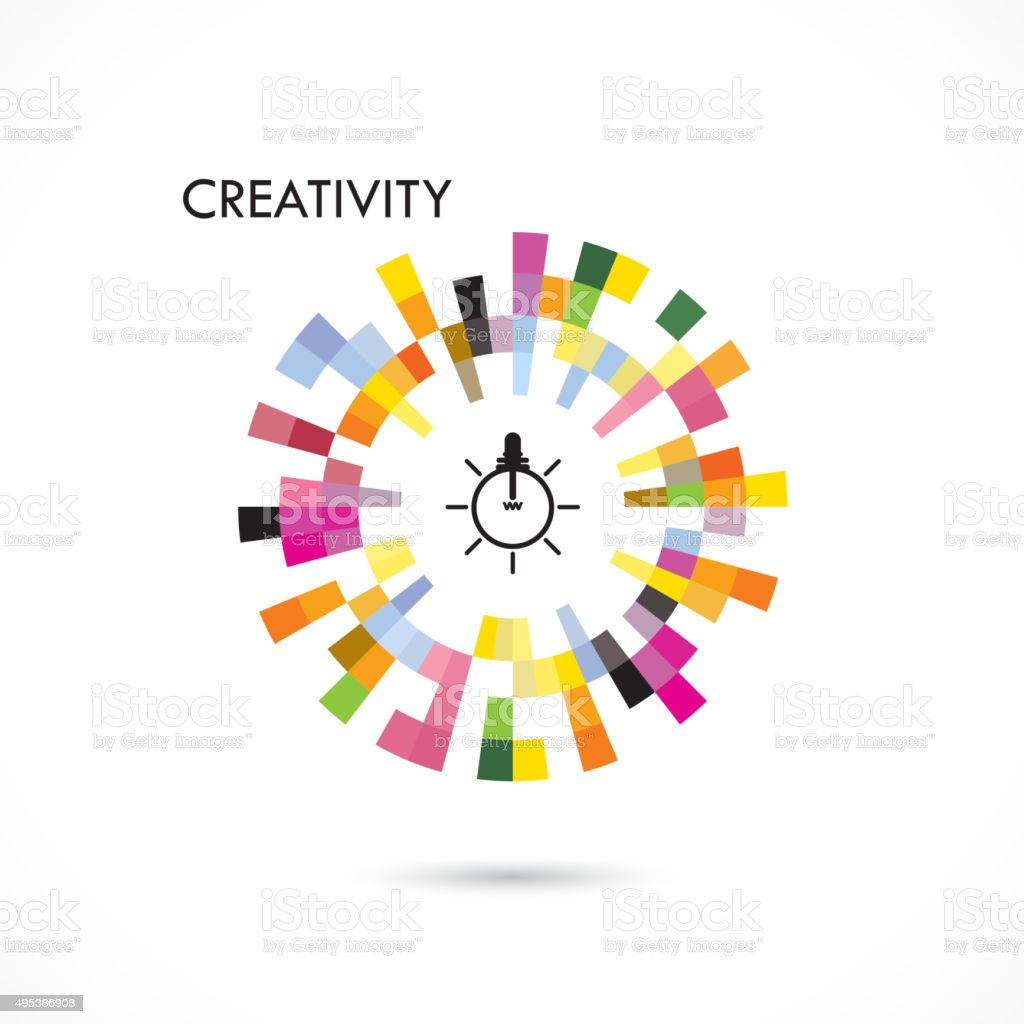 Creative circle abstract vector design vector art illustration