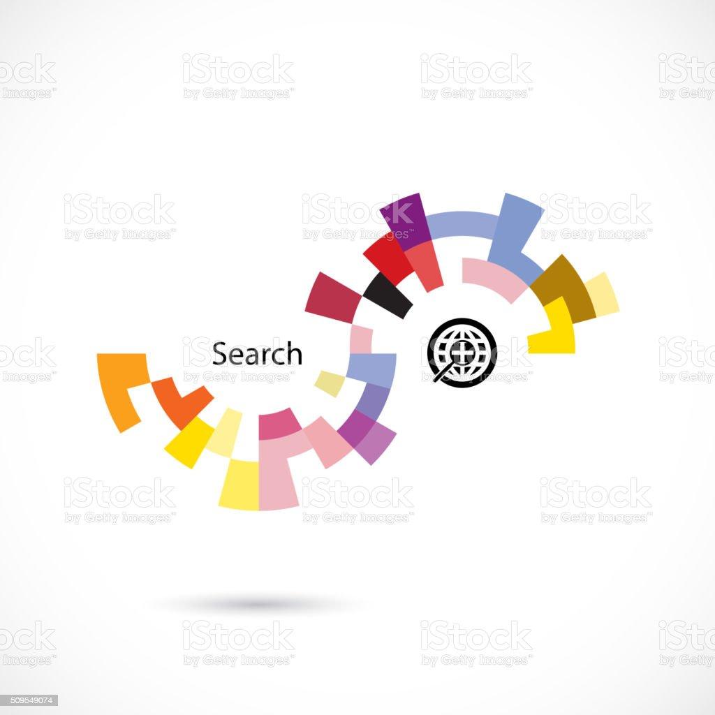 Creative circle abstract vector design vector art illustration
