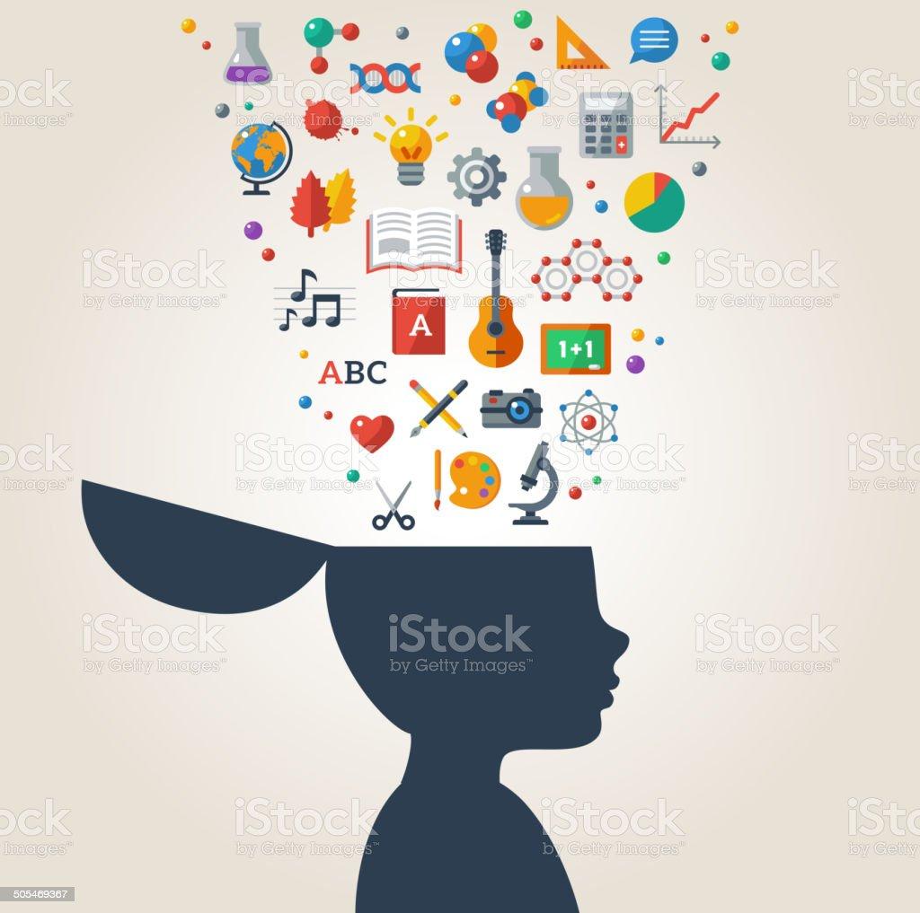 Creative concept of education. vector art illustration