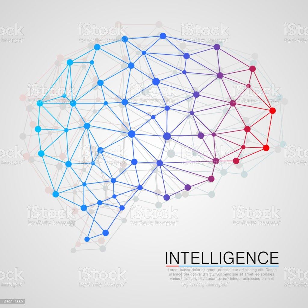 Creative concept of the human brain vector art illustration