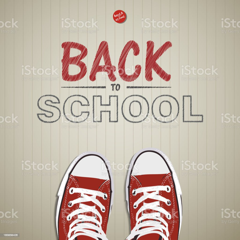 Creative concept with Back to school theme - vector illustration vector art illustration