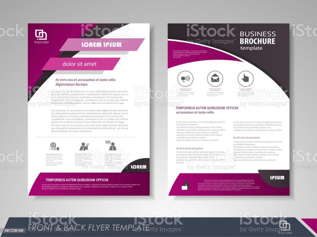 Creative corporate brochures vector art illustration