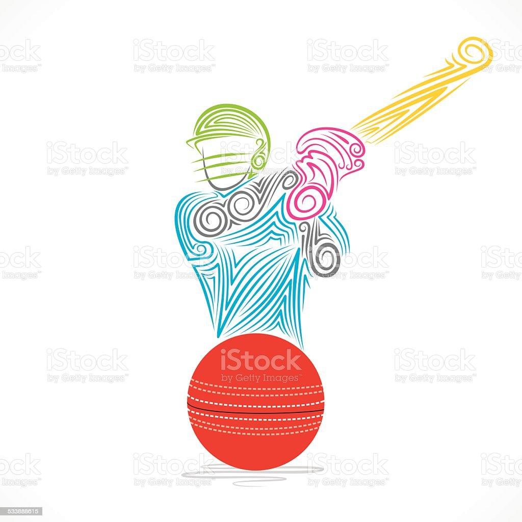 creative cricket player banner design vector art illustration