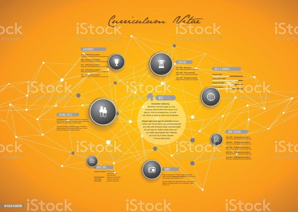 Creative CV / resume template. vector art illustration