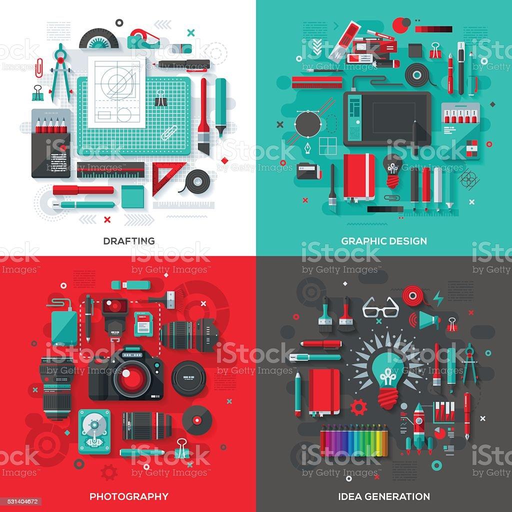Creative & Design Services Concepts vector art illustration