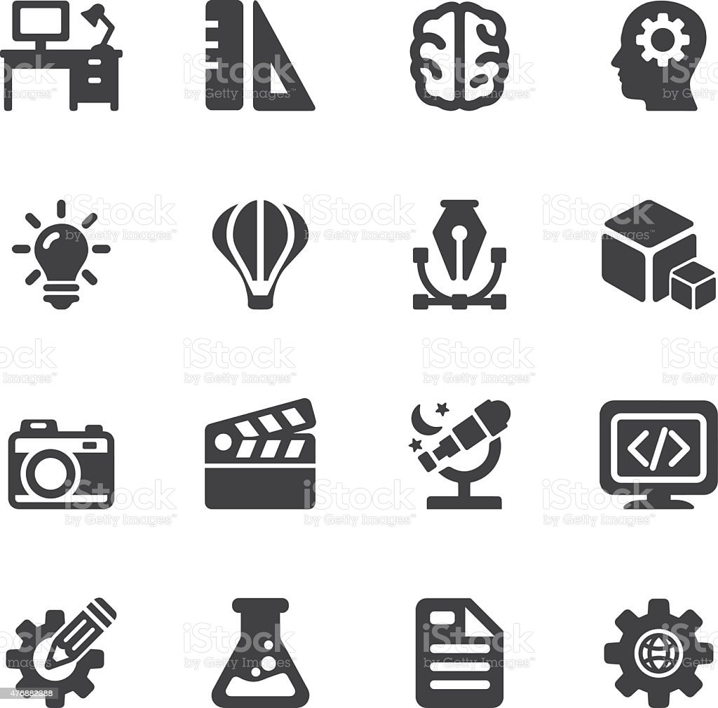 Creative Designer Silhouette icons | EPS10 vector art illustration