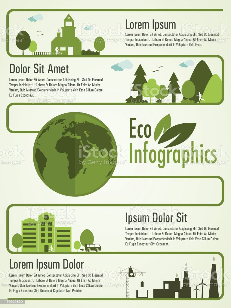 Creative eco infographic template layout. vector art illustration