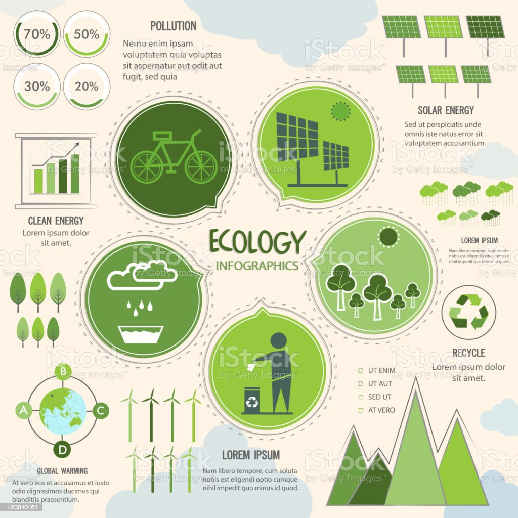 Creative Ecology Infographic elements. vector art illustration