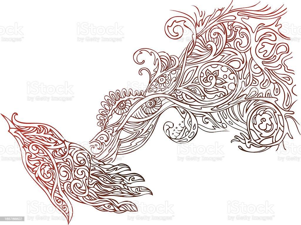 creative energy vector art illustration