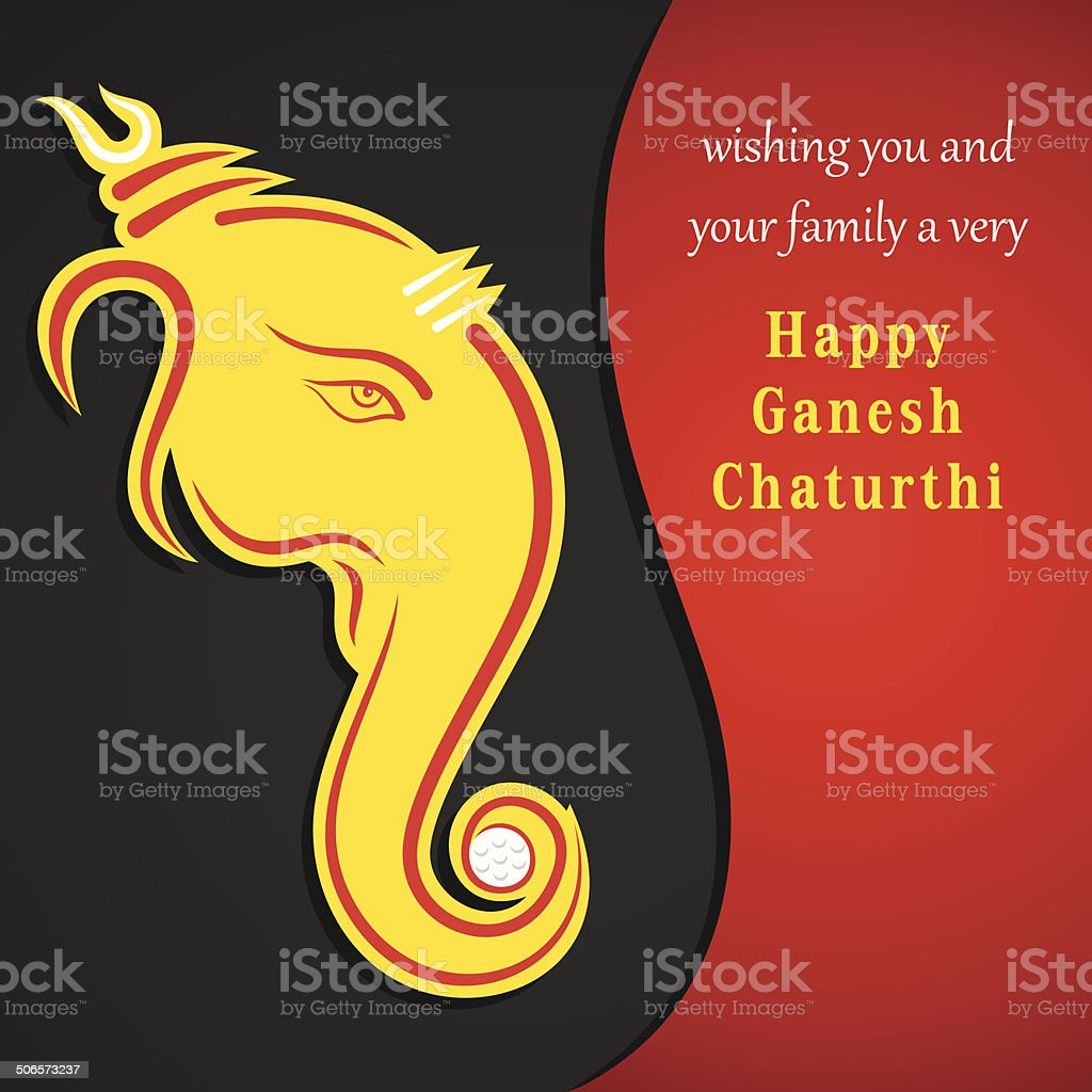 creative ganesh chaturthi festival greeting card background vector art illustration