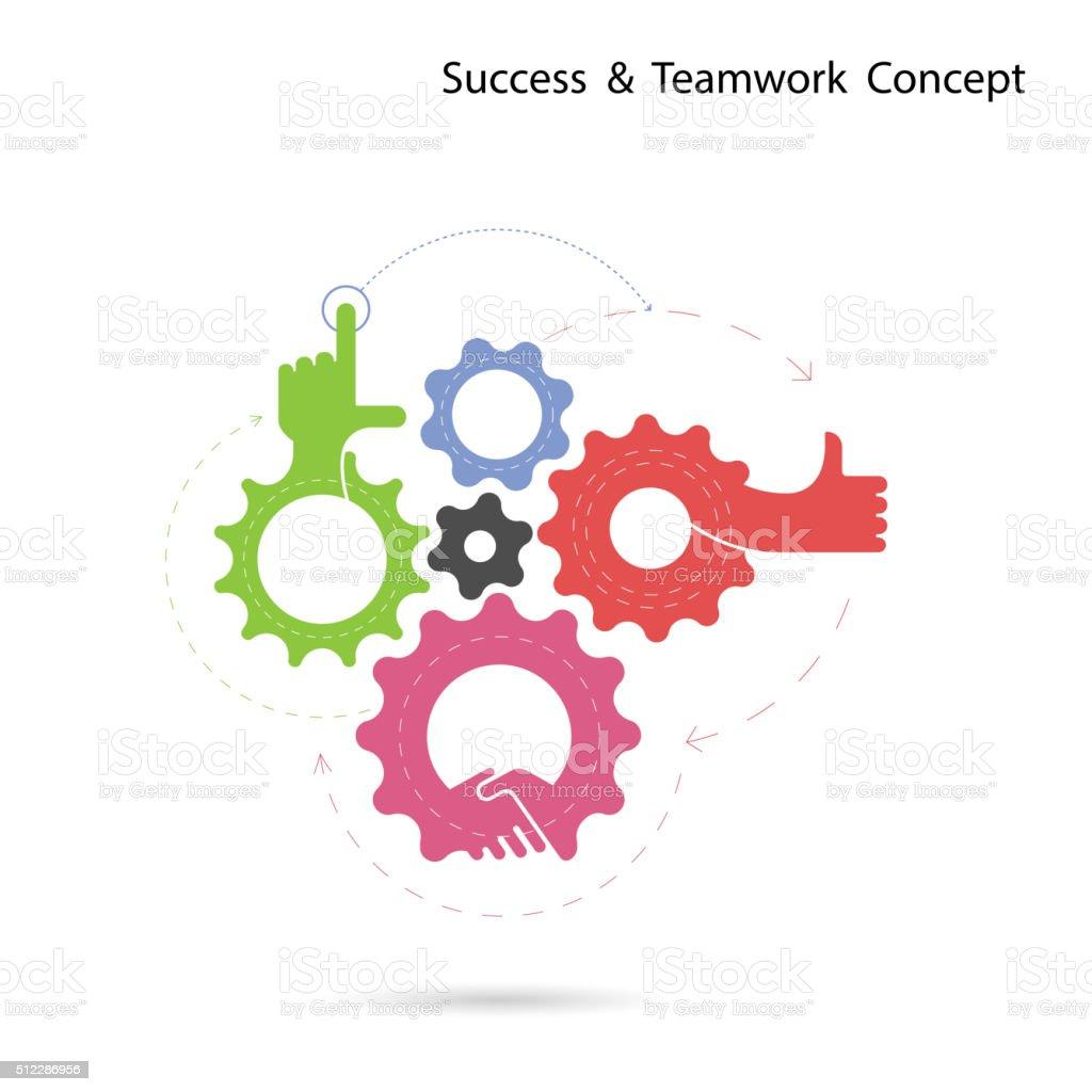 Creative gear and hand icon vector design.Progression of idea concept vector art illustration