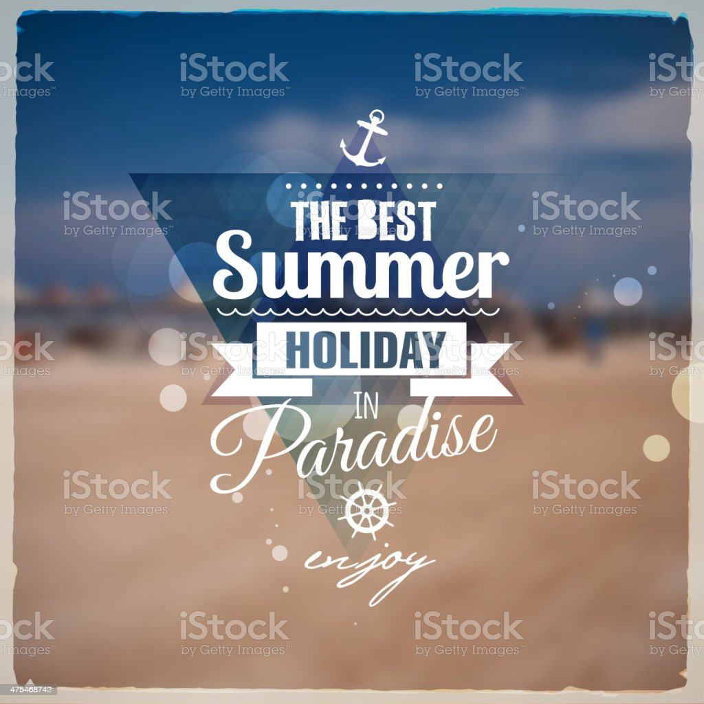 Creative graphic message for your summer design vector art illustration