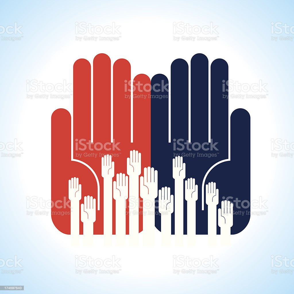 creative group of hands royalty-free stock vector art