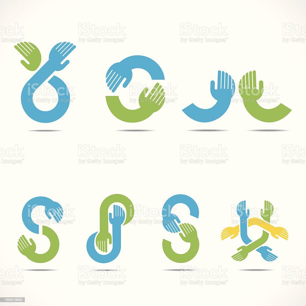creative hand icon royalty-free stock vector art