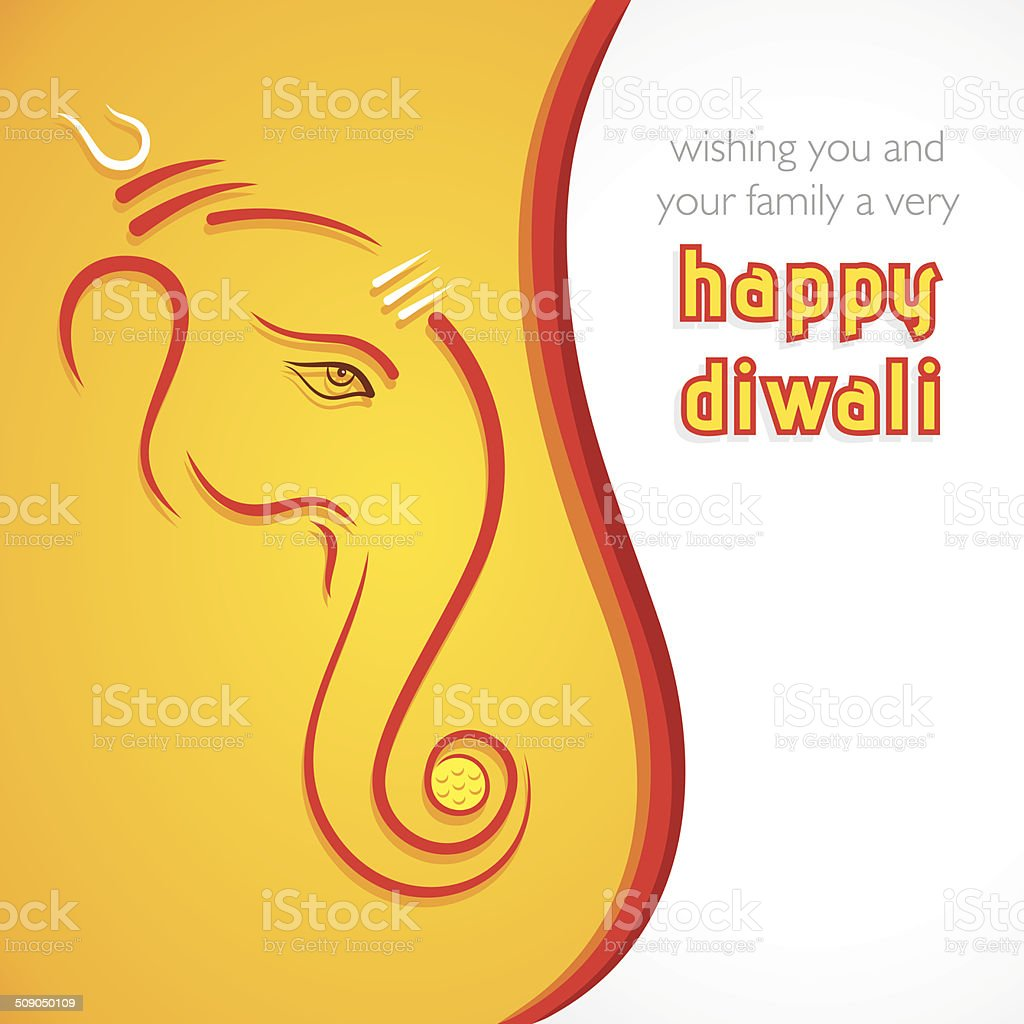 creative happy Diwali greeting card background vector art illustration