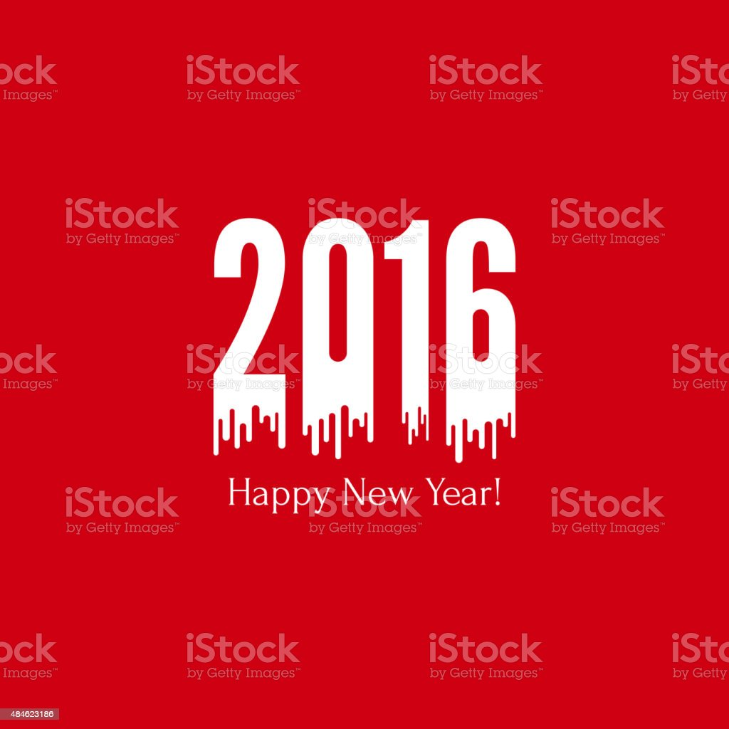 creative happy new year 2016 vector art illustration